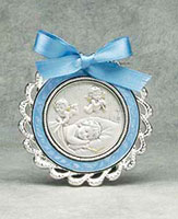 Salerni Sterling Crib Medal-Blue