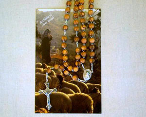 Olivewood Chain Rosary from Bethlehem