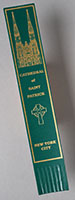 Leather Bookmark Green