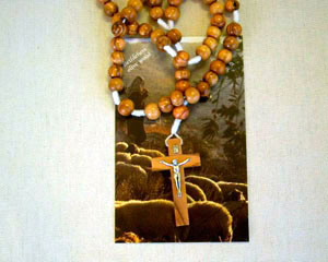 Olivewood Large Bead Rosary from Bethlehem