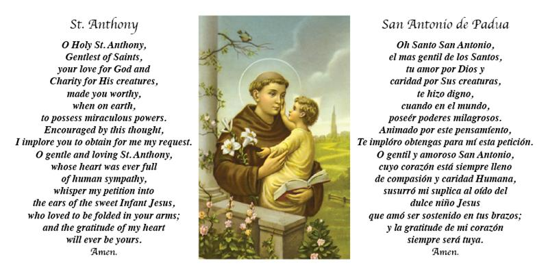 Prayer to st anthony de padua