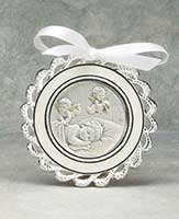 Salerni Sterling Crib Medal-White