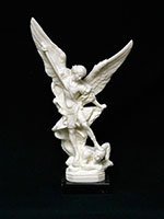 9inch Alabastor St. Michael Statue on a Marble Base