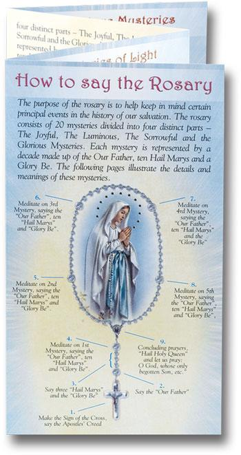 graphic relating to How to Pray the Rosary Printable named How in the direction of Pray the Rosary Pamphlet